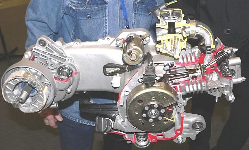 Как сделать двигатель для скутера